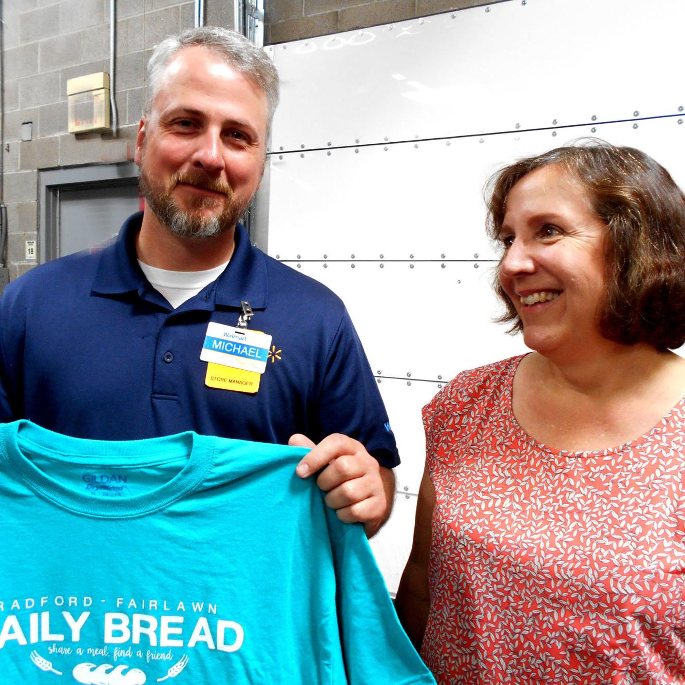 Radford Daily Bread thanks Fairlawn Walmart for years of