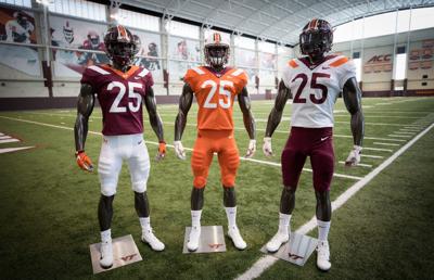 new concept 33cef 1f2c4 Hokies unveil new football uniforms | Virginia Tech ...