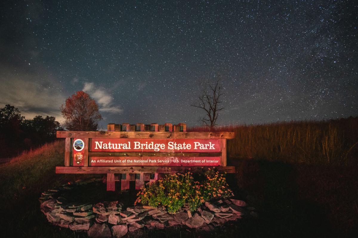 Natural Bridge dark sky