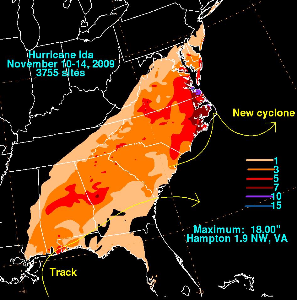 Ida 2009 precipitation