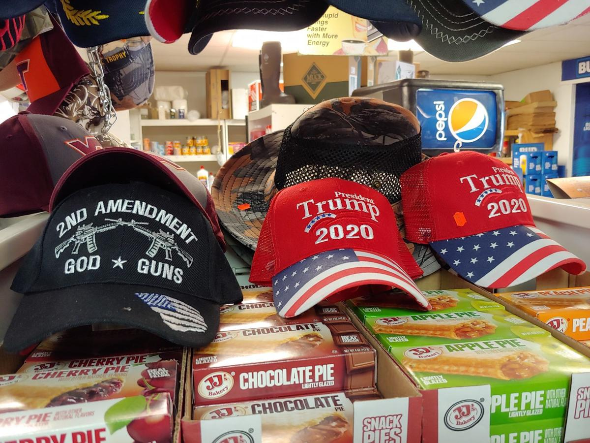 trump hats in bland