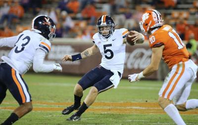Brennan Armstrong runs against Clemson