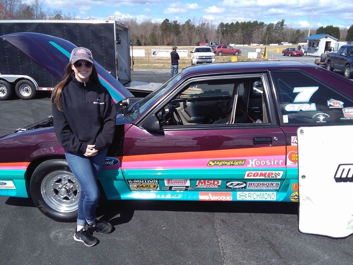 Roanoke drag racer taylor dunahoo began racing with this 1993 mustang in 2016 since then she finished third in the international hot rod associations