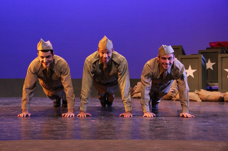 Matthew Robinson, Marcus Wooling and Caleb Waybright portray WWII soldiers