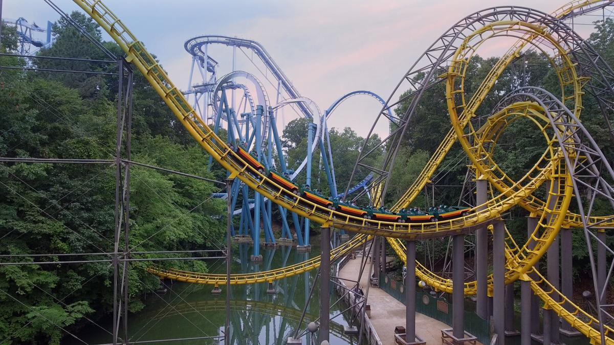 Loch Ness Monster  roller coaster at Busch Gardens Williamsburg