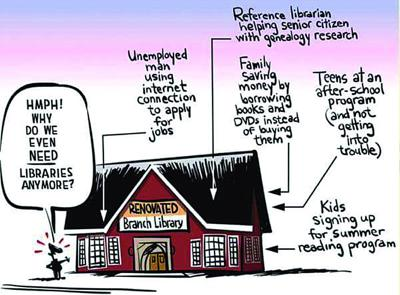 Library Obrion cartoon