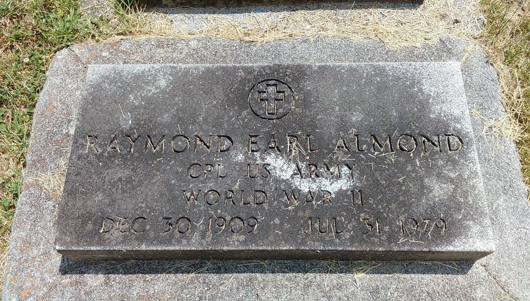 Grave marker in Roanoke
