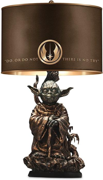 Yoda Bronze Colored Resin Lamp
