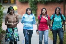 The Jackson Four Identical Quadruplets Attend Hollins University