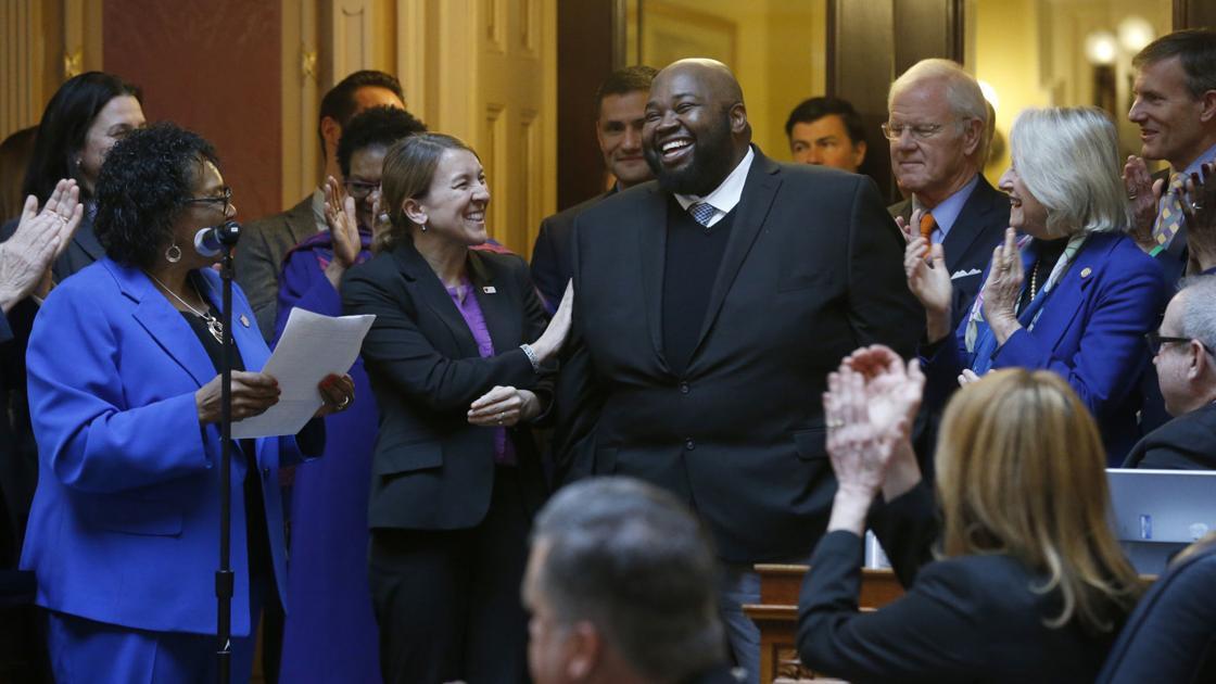 House of Delegates honors Salem teacher Andrea Johnson, Virginia's Teacher of the Year