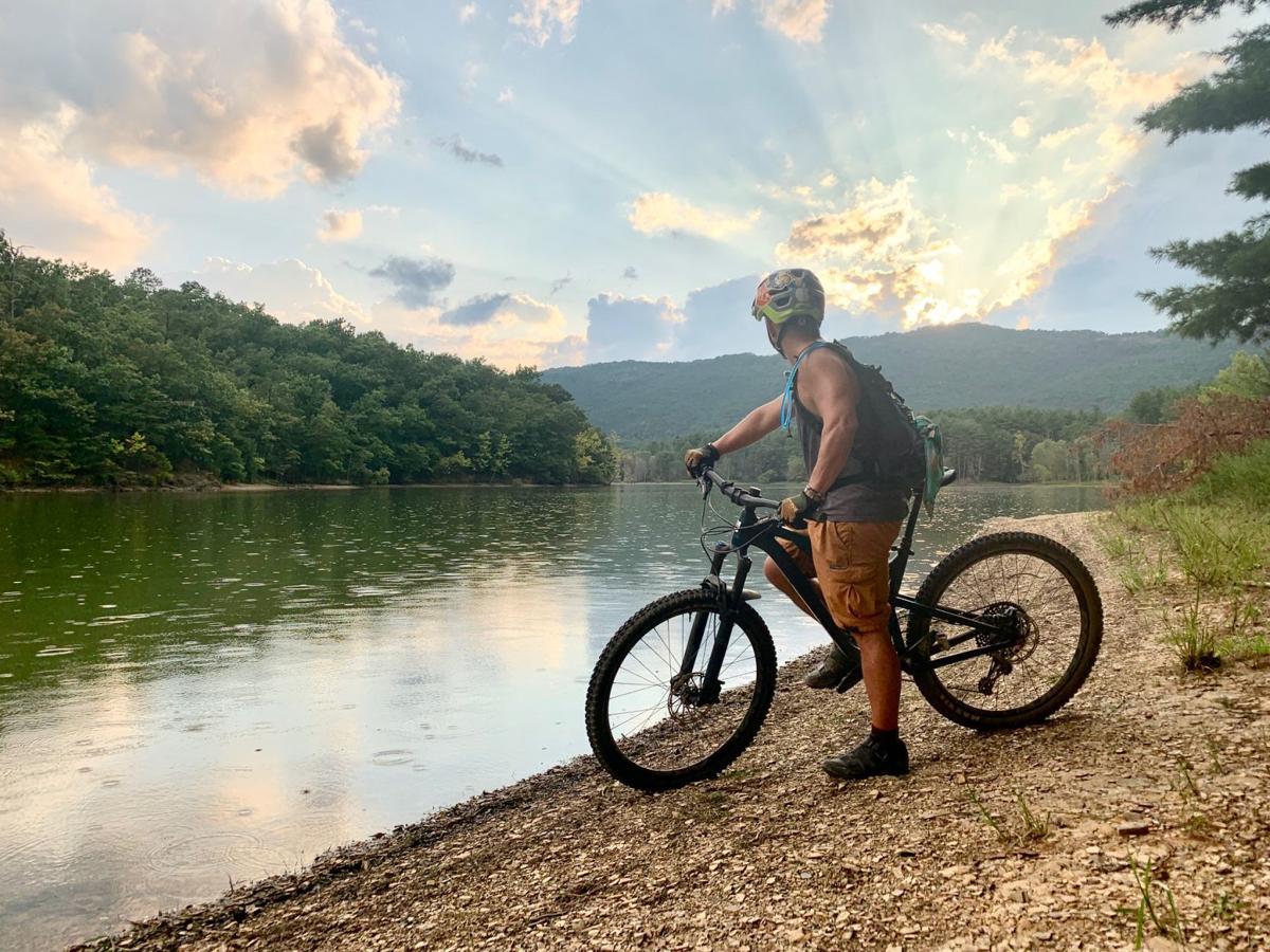 mountain biking at carvins cove