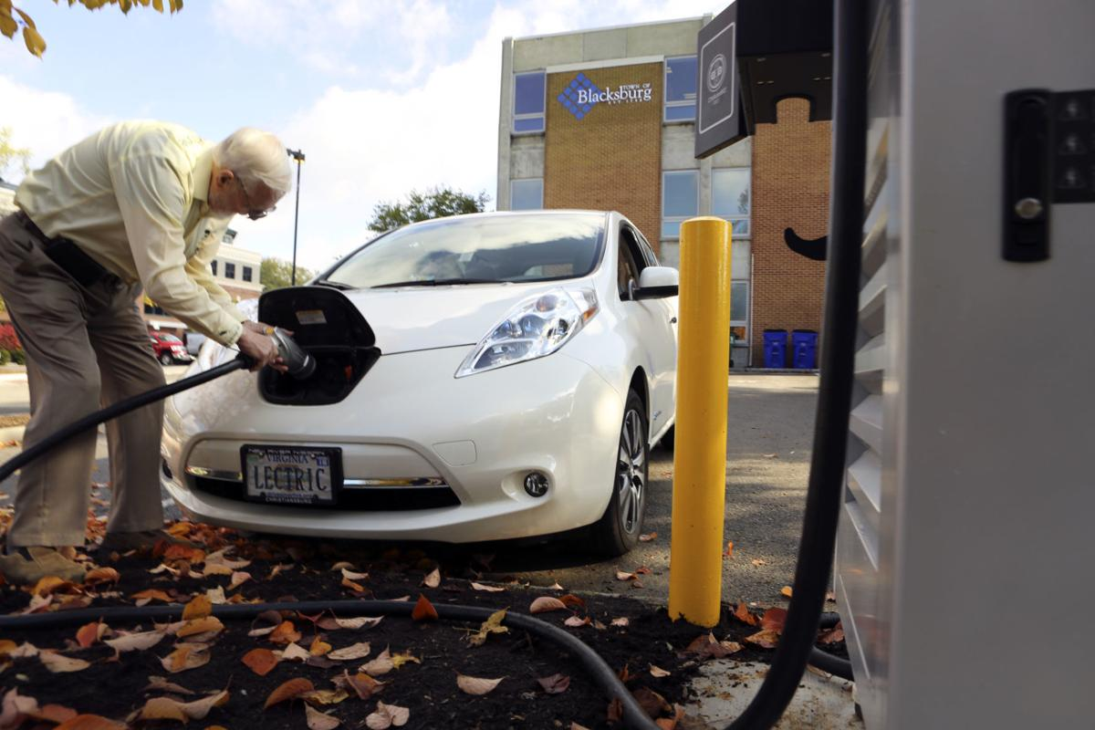 Blacksburg's electric car charger