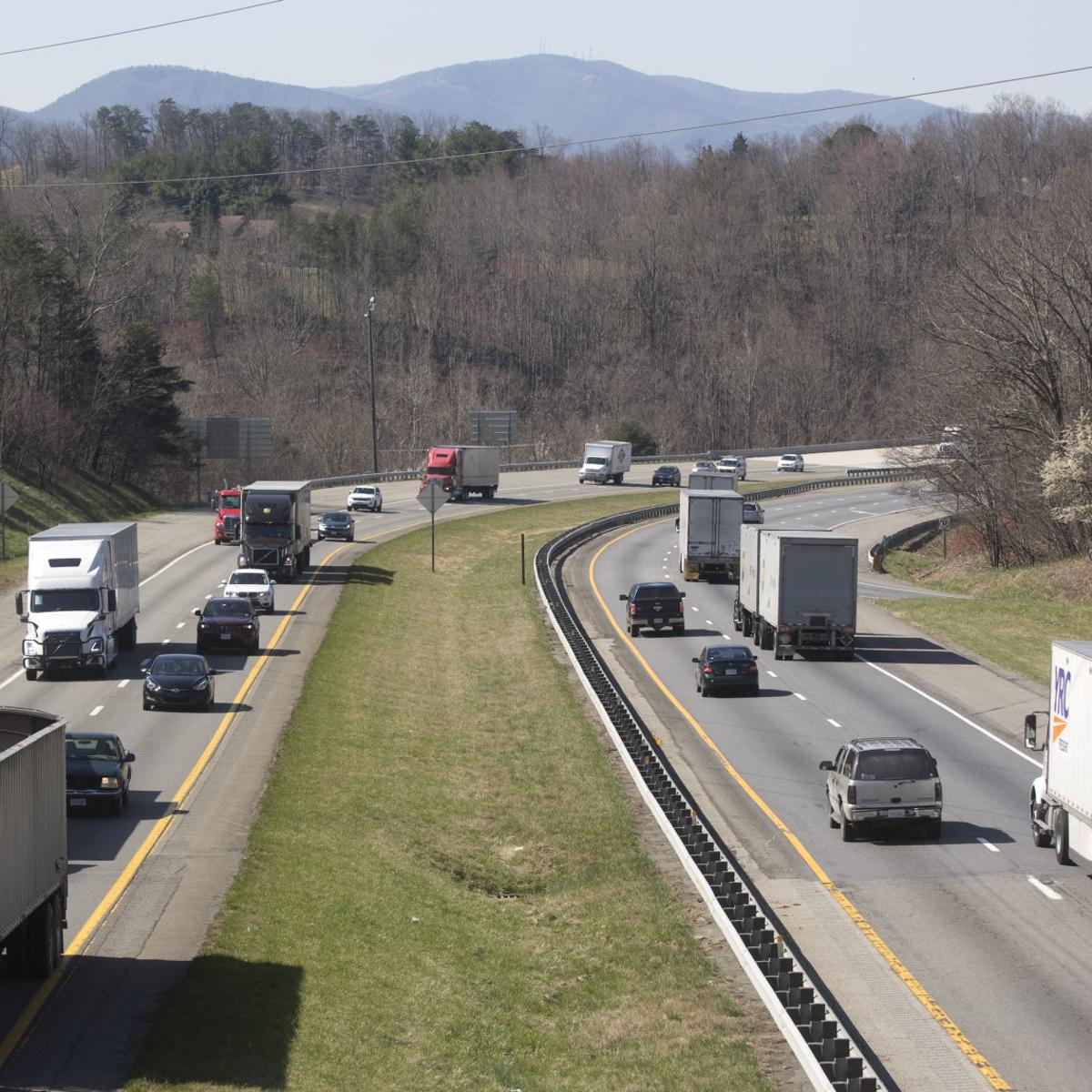 Northam, with I-81 near Salem as backdrop, pushes for gas