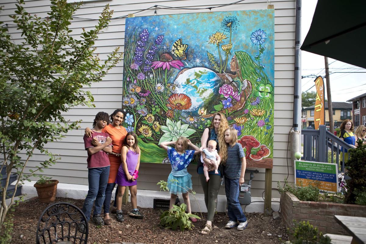 Arts Extras Mural Portrays Garden Song Arts Roanoke