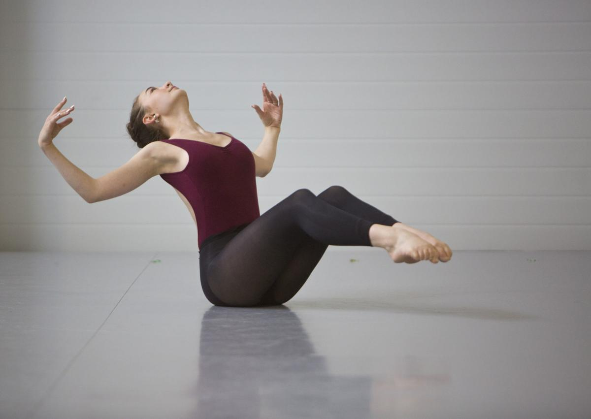 Scenes from Southwest Virginia Ballet's rehearsal of Poetry in Motion