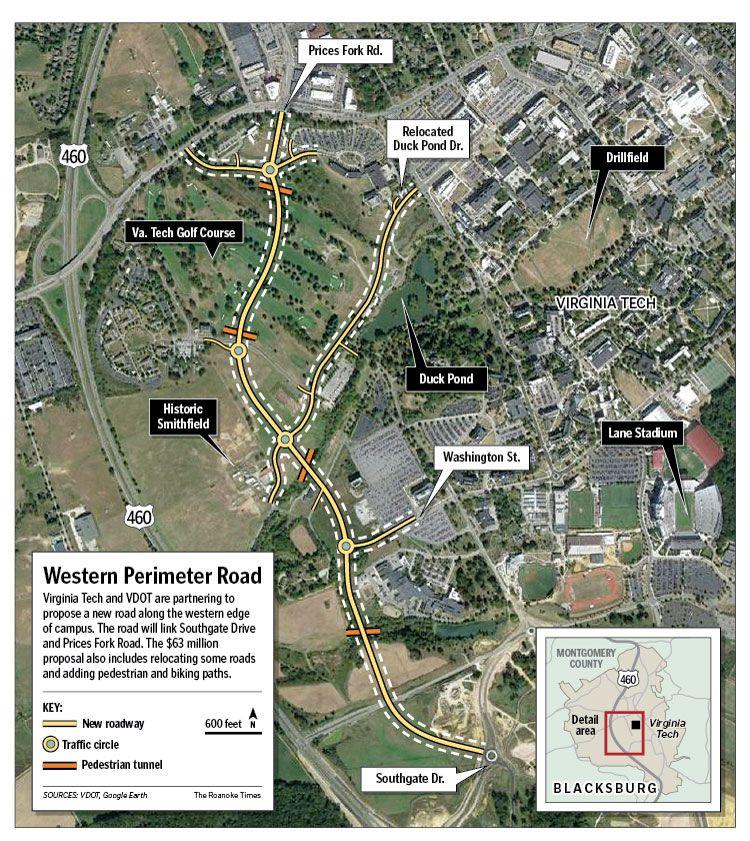 $63 million Perimeter Road in works at Virginia Tech | Education ...