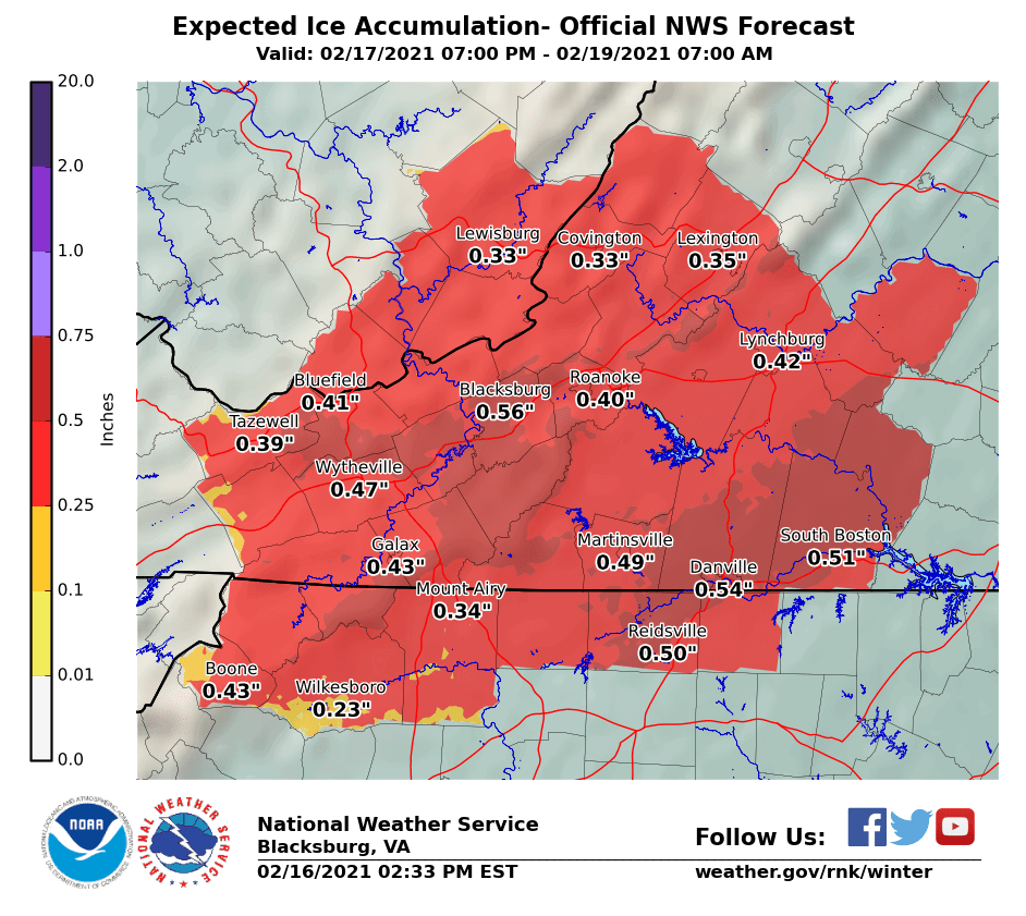Thursday ice forecast 021621