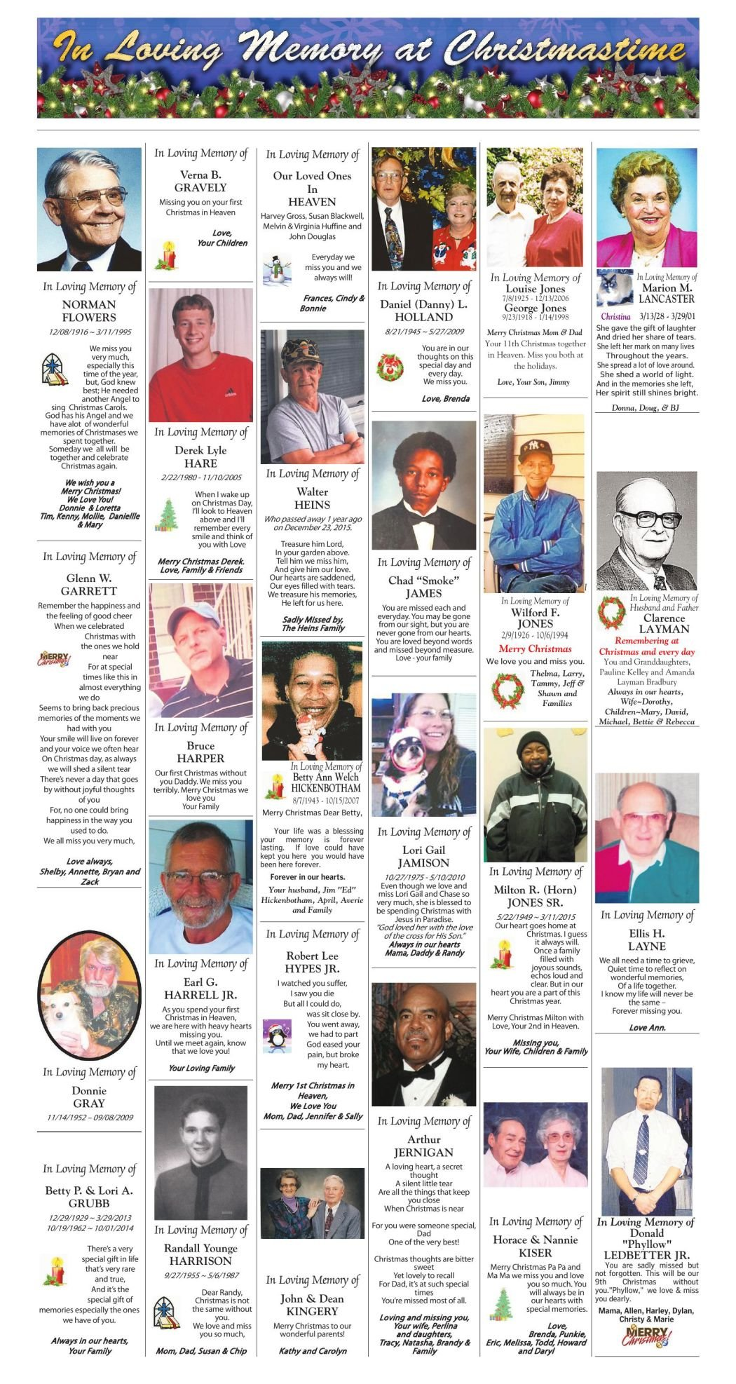 Christmas In Memory 2016 (Page 3) | | roanoke.com