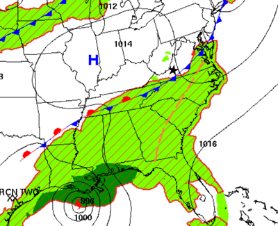 Tropical system steers away; Thursday PM storms in SW Va, then hot/dry weekend