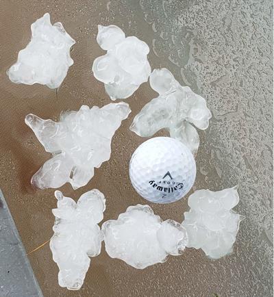 Golfball sized hail