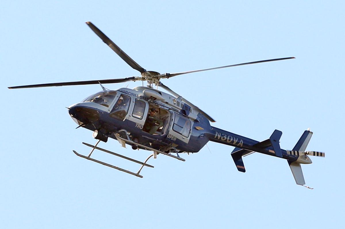 A state police helicopter