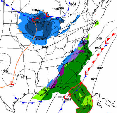 Friday PM weather map 1208