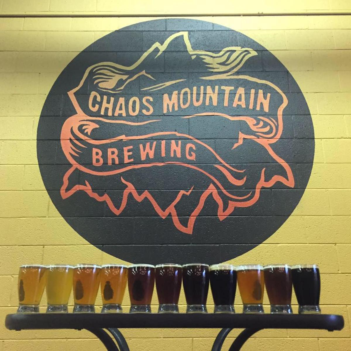 CHAOS MOUNTAIN BREWING Callaway Virginia hopper STICKER decal craft beer brewery