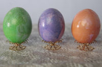 2 Bags of Colorful Easter Eggs w//Gold Green Yellow Blue Pink Purple 30 Total NEW