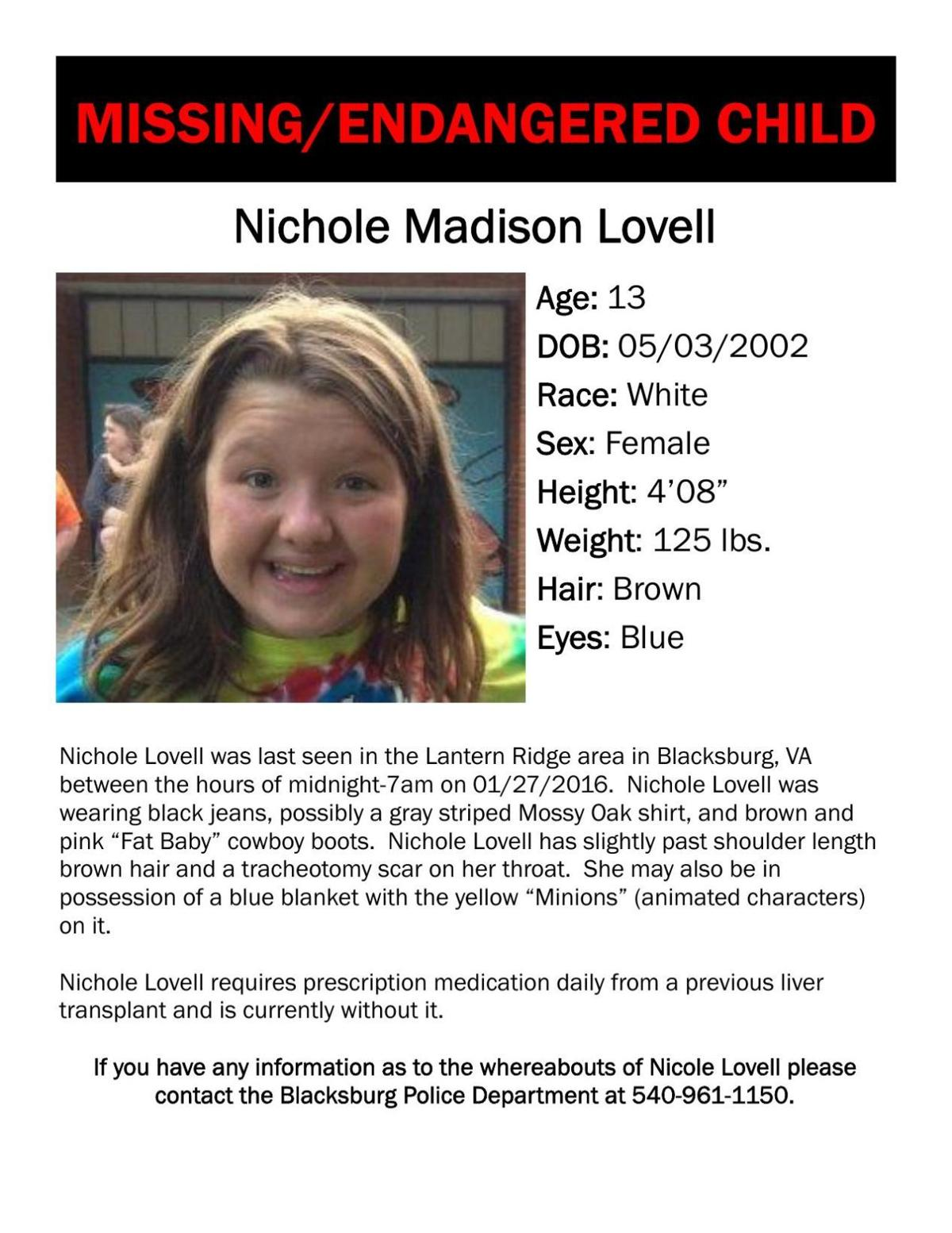 Missing: Nicole Madison Lovell