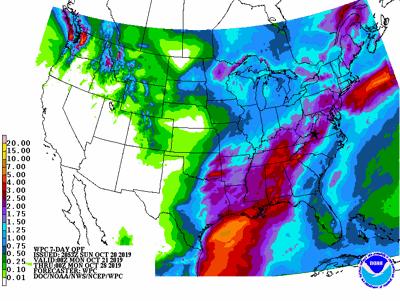Rain Map 7 day 102019