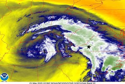 Upper Level Low Satellite image