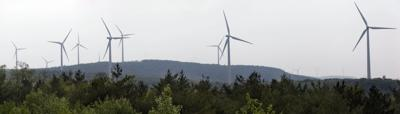 Wind turbines owned by Invenergy in Greenbrier County, West Virginia.