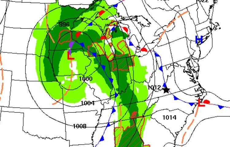 Weather map Thursday AM 040721