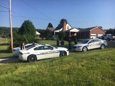 Police on Enon Drive