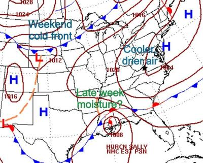 Weather map Wednesday AM