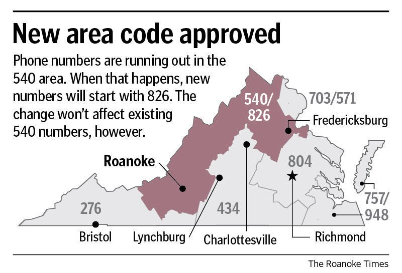 New area code map
