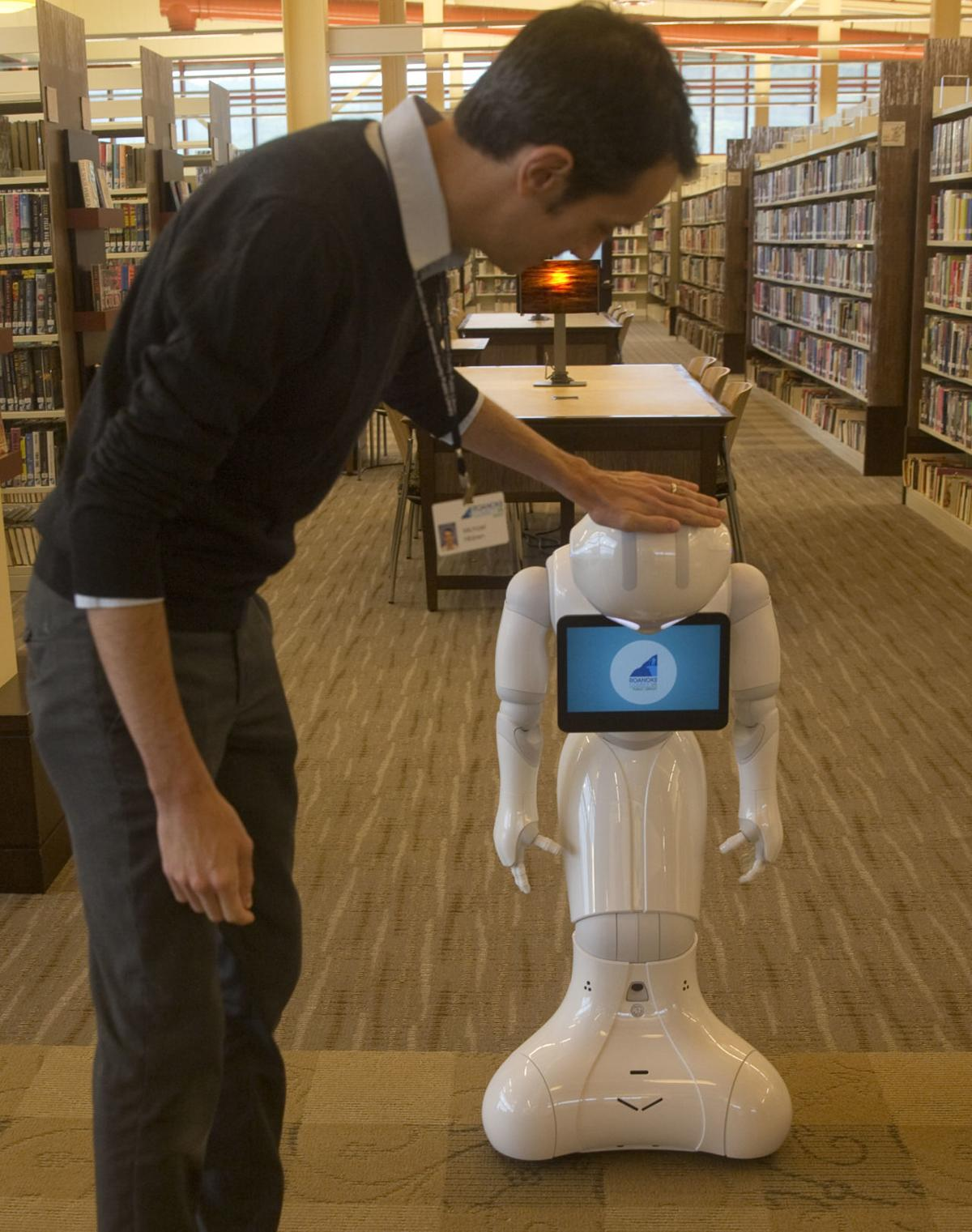Roanoke County library adds Pepper, a 'community robot