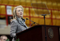 Clinton receives award at VMI, speaks about U.S. diplomacy