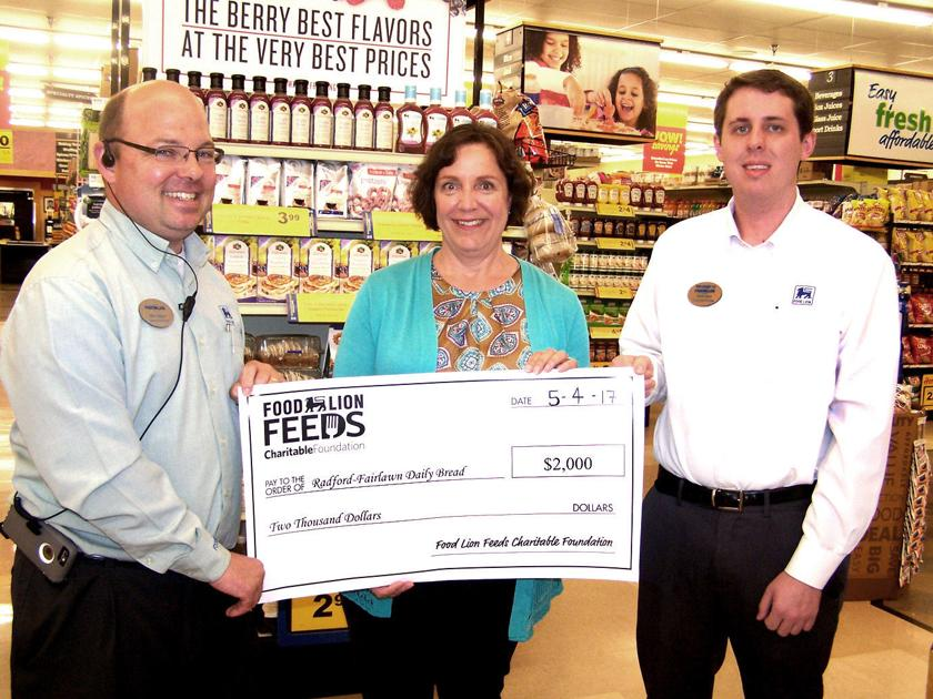 Radford Meals Programs Receive Grant From Food Lion Community