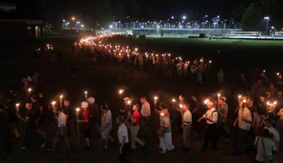 UVa torch rally