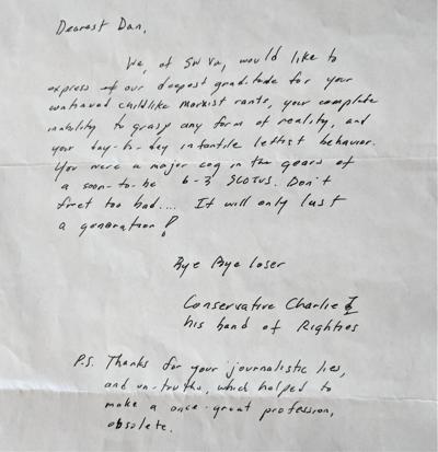 Charlie's letter