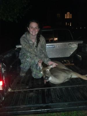 Sarah Lam of Buchanan kills 1st deer with crossbow