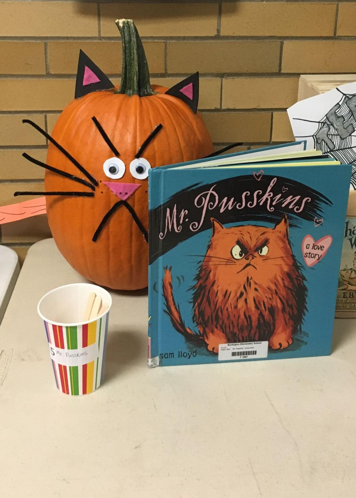 Burlington Elementary School Decorate Pumpkins To Match Favorite