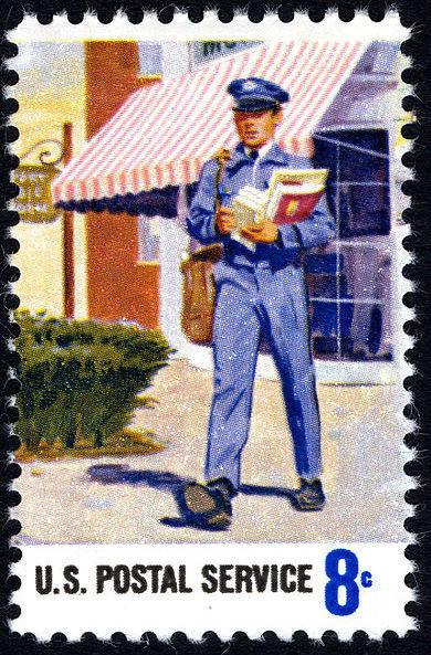 mail man stamp