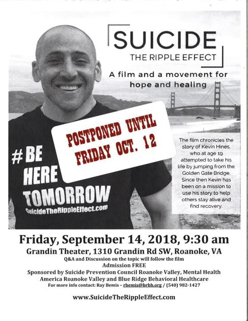 Med Beat Potential Storm Cancels Suicide Prevention Week S Main