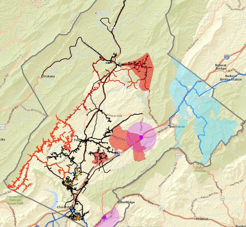 Botetourt County broadband expansion projects