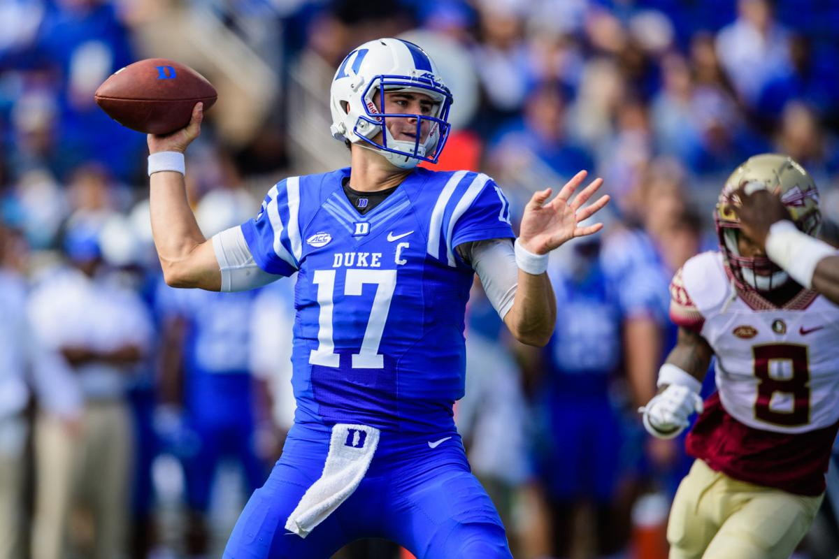 2cf04569c9f ACC football 2018  Duke hopes for improvement from QB Daniel Jones ...