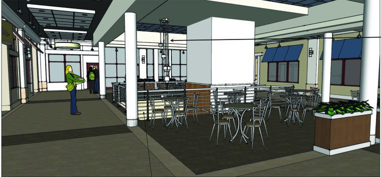Design Plans For The Second Floor Renovations At Towers Shopping Center  Include A Food Court And The Removal Of The Escalators.