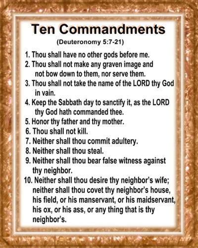 Geeky image in 10 commandments kjv printable