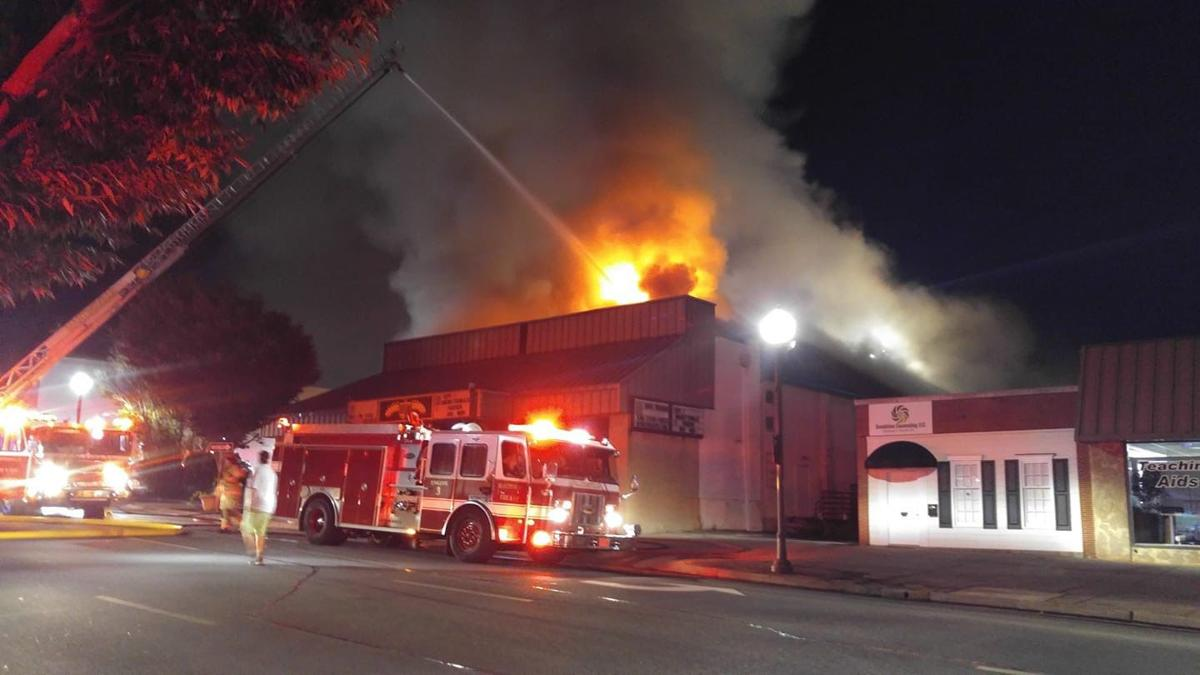 Fire at Rives Theatre